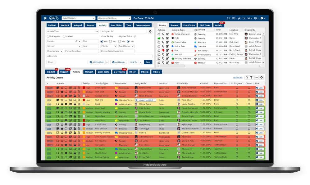 Activity Tracking Software Dashboard