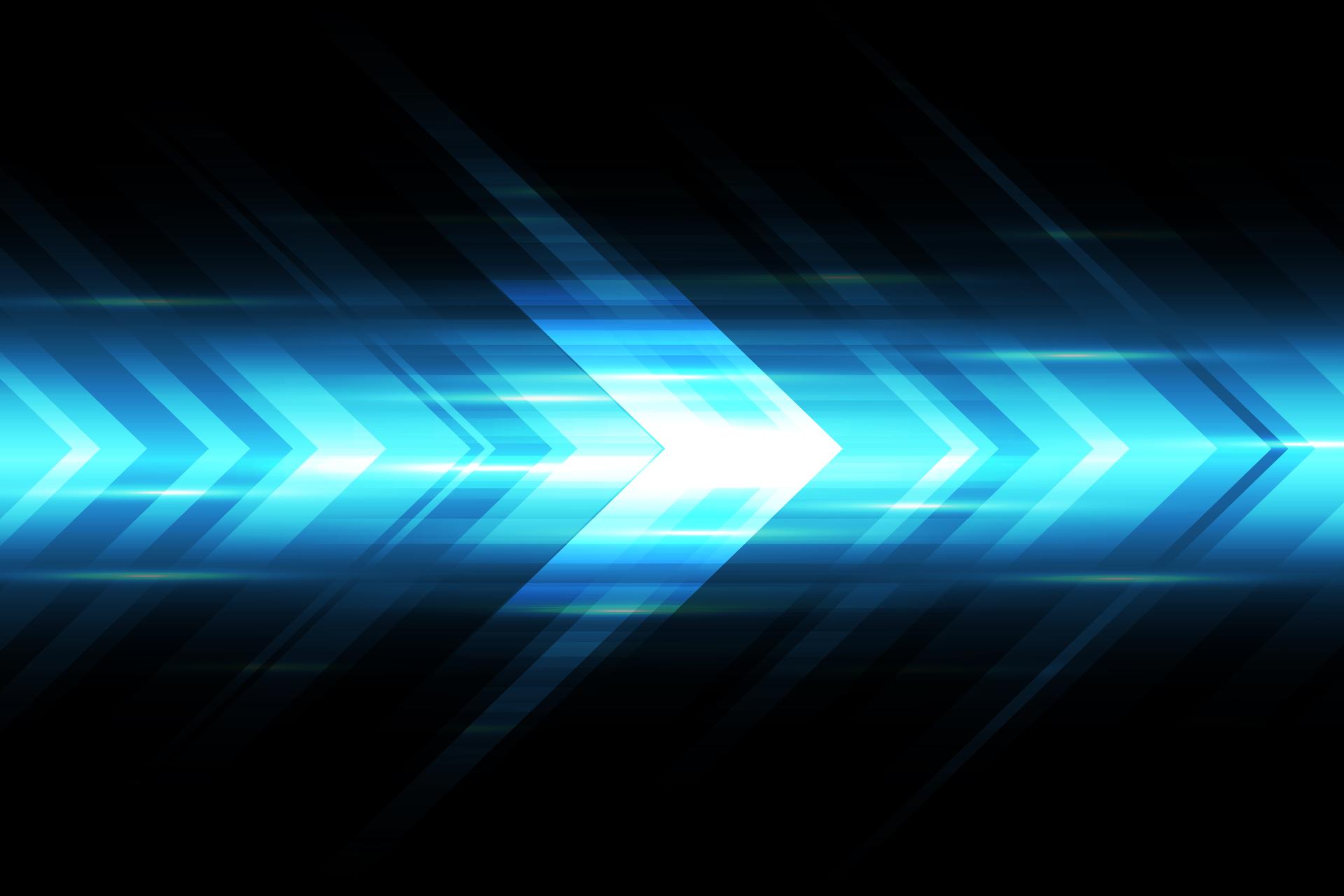Abstract blue light arrow speed power technology futuristic background vector illustration