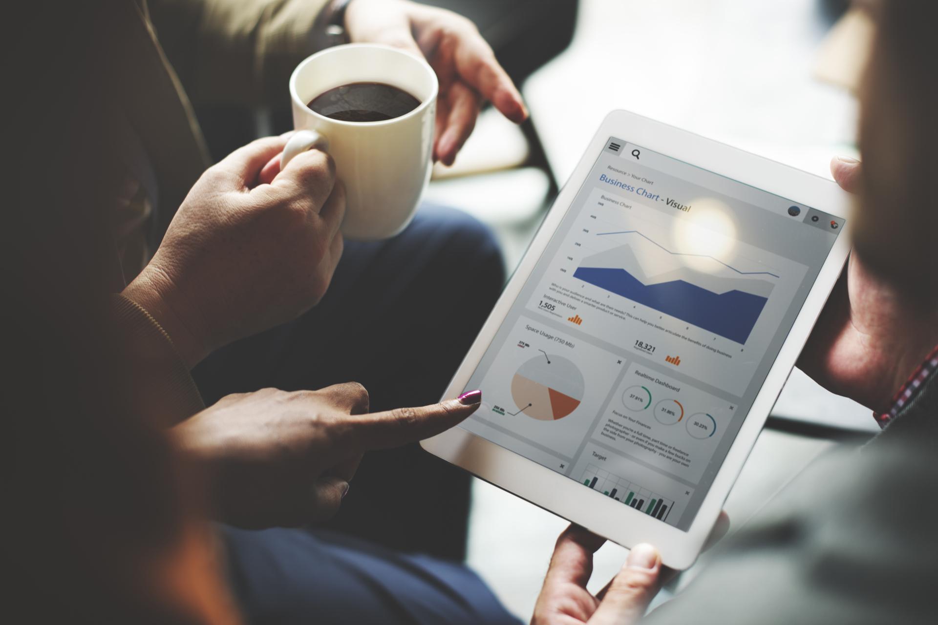 Business Team Brainstorming Data Target