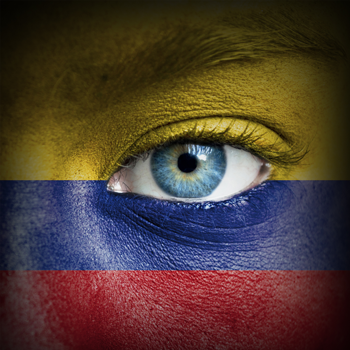 Human-face-painted-with-flag-of-Colombia