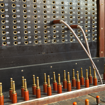 Old-vintage-telephone-switchboard
