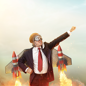 Aviator Businessman With Jetpack On His Back.png