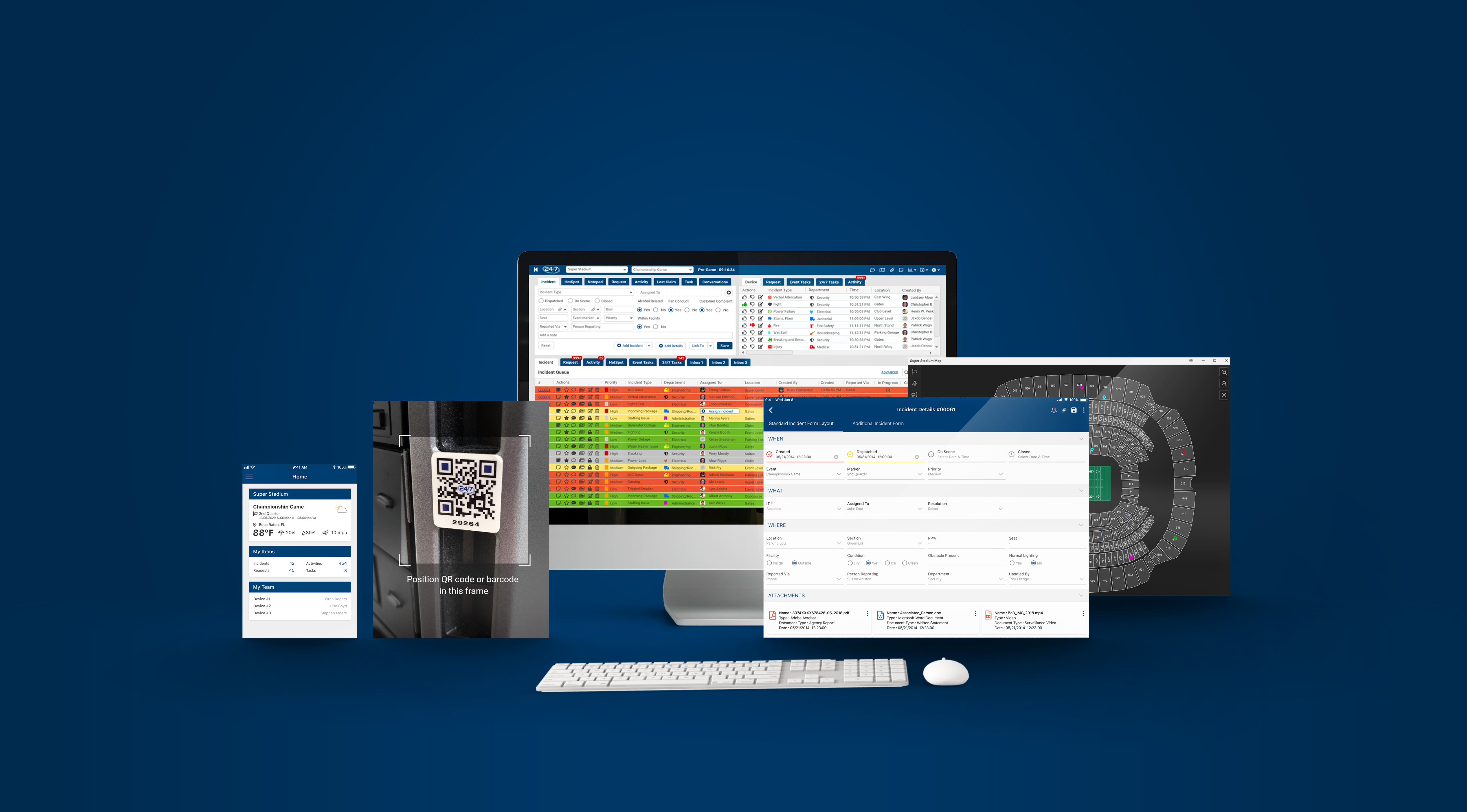 All-New 24/7 Software Platform Screens
