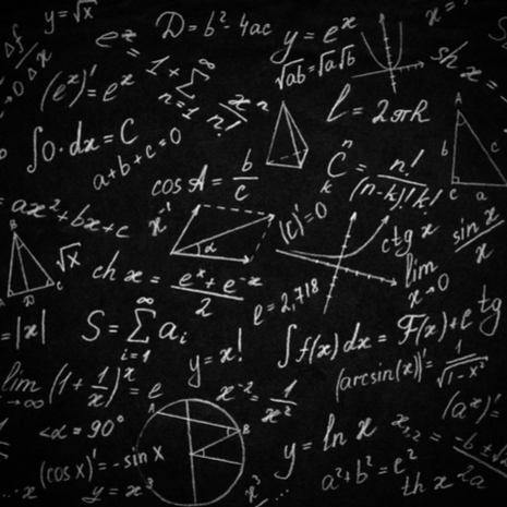 Math physics formulas on black background
