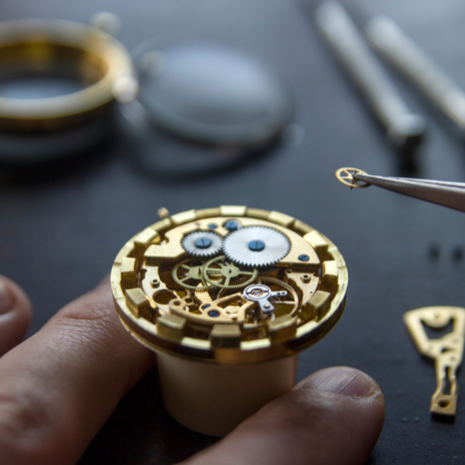 Process of installing a part on a mechanical watch