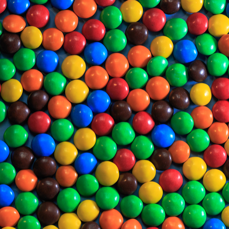 background of colored m&ms