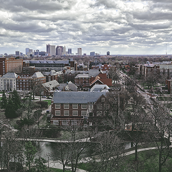 distant view of the ohio state university