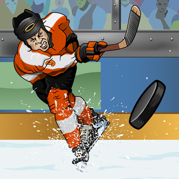illustration-of-hockey-player-shooting-puck