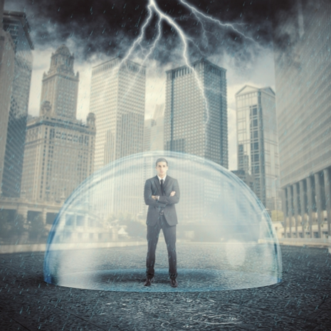 incident-management-solutions-protect-property-manager-in-a-dome-during-a-storm