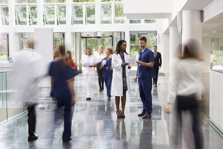 Medical Professionals Talking in a Hospital