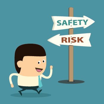 text-alert-system-sign-leading-businessman-to-safety-over-risk